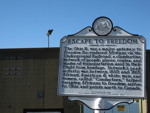 Escape on the Ohio River. Found at  Lauckport, Parkersburg, West Virginia.