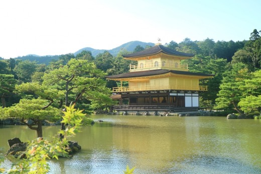 Kinkakuji Temple, also known as Golden Pavillion, in Kyoto, Japan.