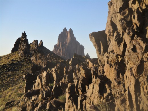 The appearance of Shiprock, depends upon your position, photo by author