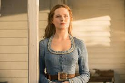 "Evan Rachel Wood as ""Dolores Abernathy"""