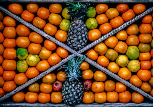 Foods Highest in Vitamin C |  Lemon (40 mg of vitamin per 100 gr), Tangerine  (30 mg),  . Grapefruit (30 mg), Pineapple (10 mg)