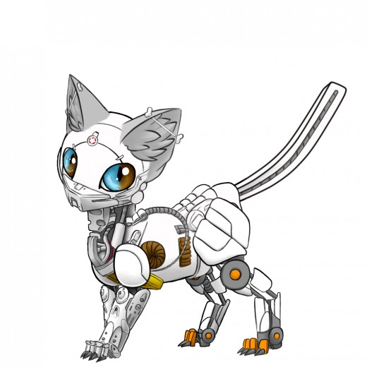 You could write about robot cats!
