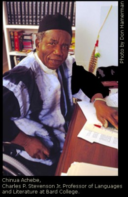 Nigerian author, poet, and professor Chinua Achebe produced some of the most widely read works in modern African literature to date.