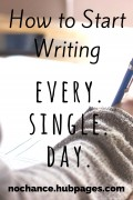 How to Make a Habit of Writing