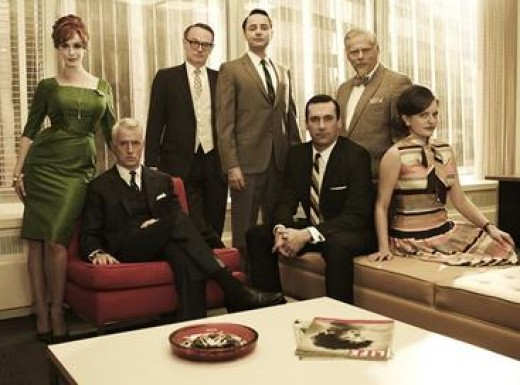 Some of the cast from 'Mad Men' Series 5 - is this who we go to for inspiration?