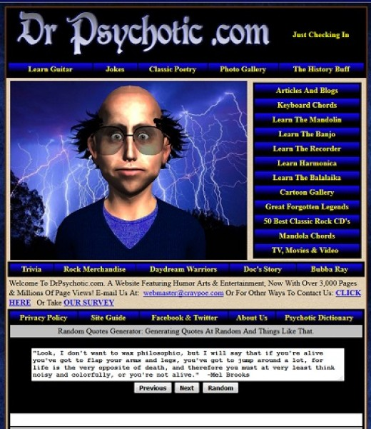 Image from DrPsychotic.com, created by Bob Craypoe, also known as R.L. Crepeau