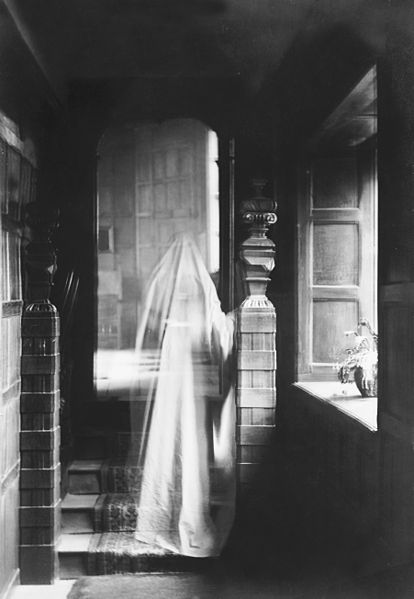 A ghost will show human-like signs and will usually stick around in the place where it died.