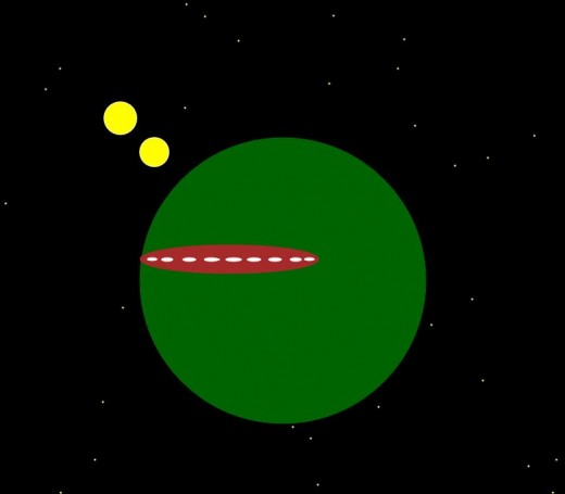 Green World, Spacecraft and  Two Suns