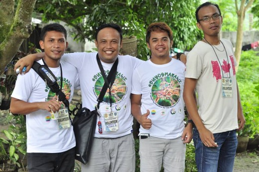 (From left) Michael Quirante, Porferio Sumile, Chad Davy Juevesano, and Emmerson Barriga volunteer for #DuyogMarawi's psycho-social support team catering specifically to displaced children (5-17 years old) in Iligan City.