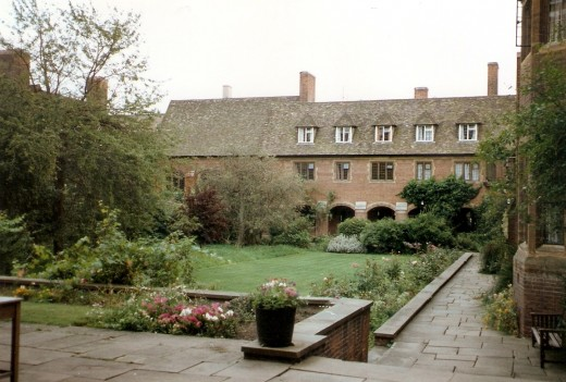 The Quad at Westcott College, Cambridge UK.