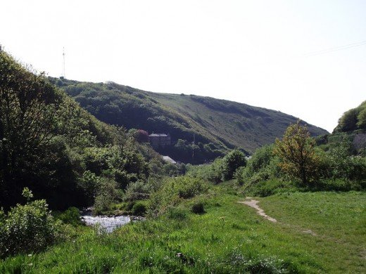 This is the view from the car park in Boscastle