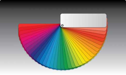 The color wheel is a handy guide for selecting desired tints.