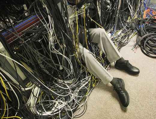 Unmanaged cables can an unsightly site.