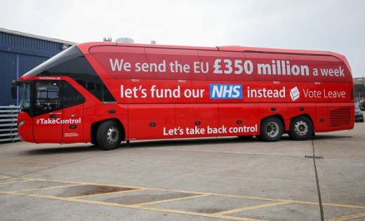 """The infamous """"Brexit Bus"""" used in the """"Leave"""" campaign"""