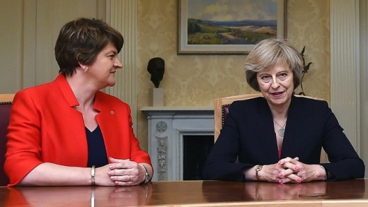 May was forced into a deal with the DUP in order to retain a parliamentary majority