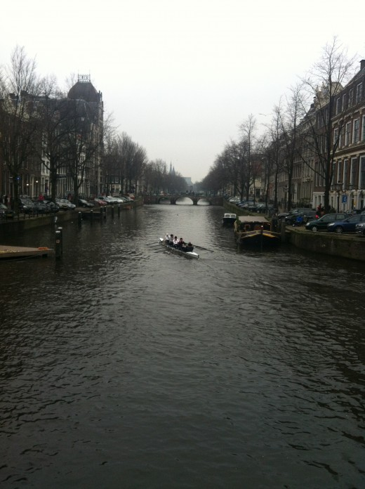 Amsterdam has more than one hundred kilometers of canals and 1,500 bridges
