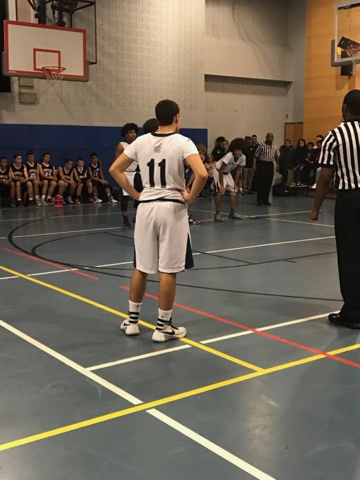 Joshua Henriquez at a basketball game