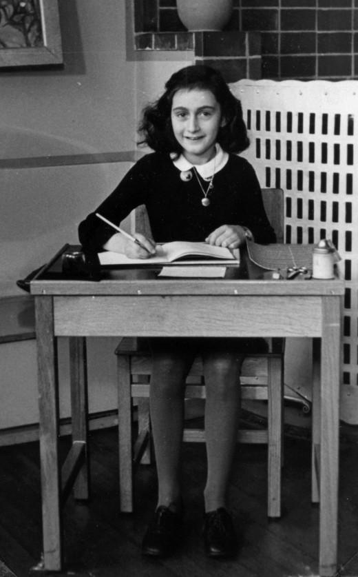 Anne Frank died aged 15 at Bergen-Belsen Concentration Camp in March 1945