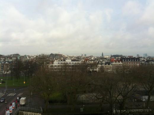 View of Amsterdam from Heineken's rooftop bar