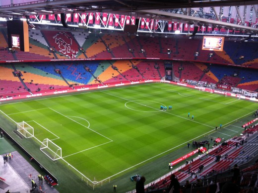 The Amsterdam Arena was built in 1996 and holds 54,000, it's one of footballs most iconic venues