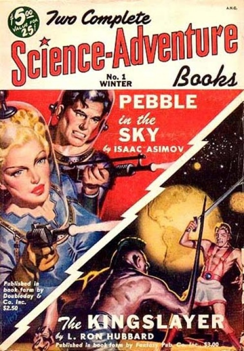Cover of the Winter 1950 issue of Two Complete Science Adventure Books