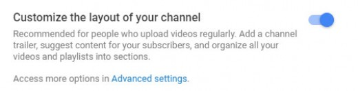 Enabling channel customization will help your channel appear more professional.