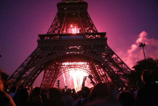 Bastille Day at the Eiffel Tower.