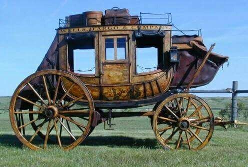 This is the stagecoach. It was this vehicle that won the west not a Colt 45.