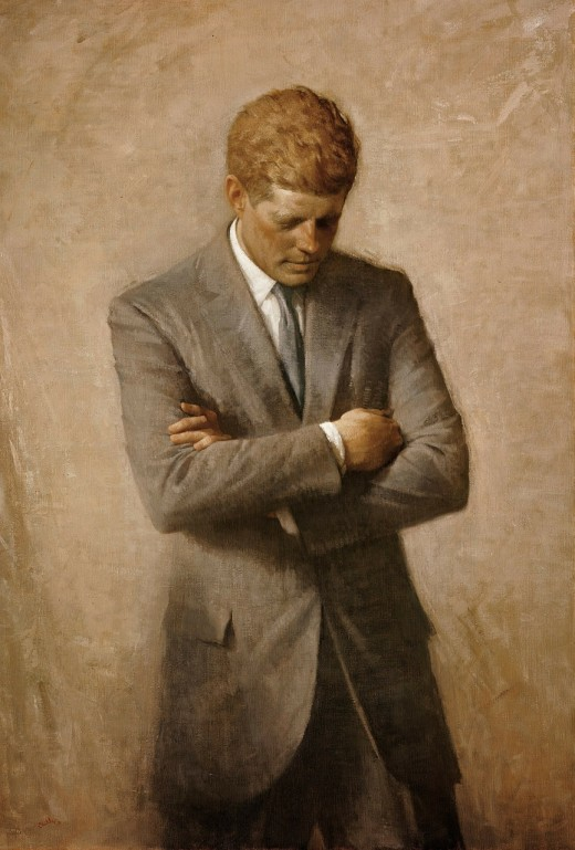 The painting of John F. Kennedy that hangs in the White House.