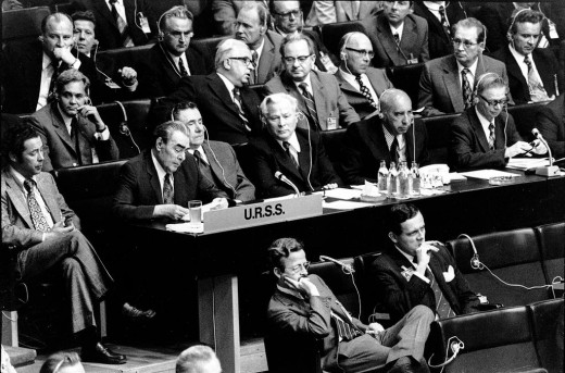 The Soviet delegation in Helsinki, 1975