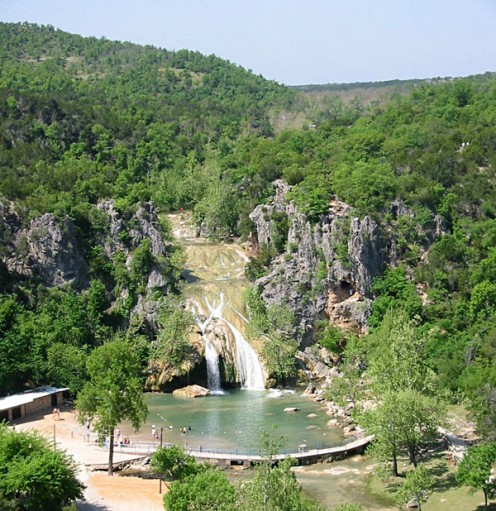 Turner Falls in the summer.