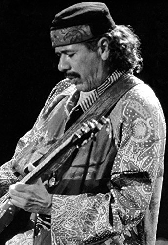 Santana Poster, Carlos Santana, Playing Guitar, Rock Legend Amazon.com