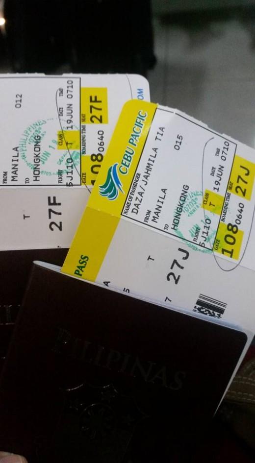 Ticket MNL - HKG