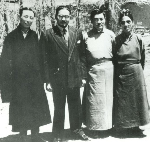 S Sinha, second left, head of the Indian Mission from 1950 to 1952