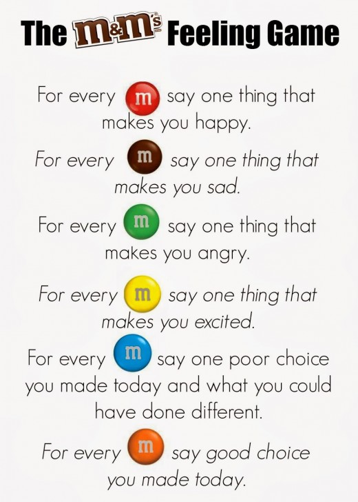 M&M's Feelings Game Key