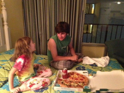 Ordering Pizza is a must when on vacation in our family!