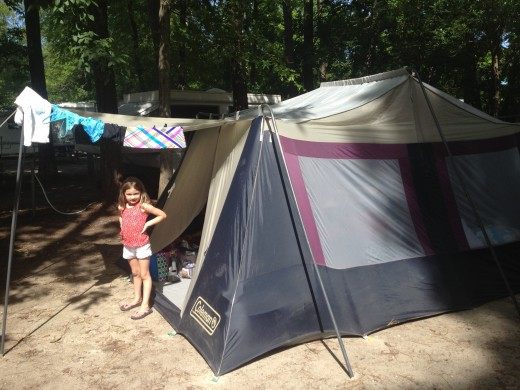 Camping out at Myrtle Beach State Park!