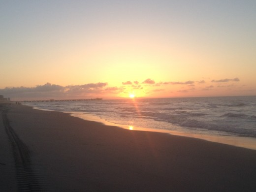 Sunrise @ Myrtle Beach State Park.  Worth waking up for!