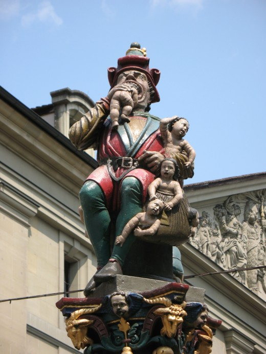 Kindlifresserbrunnen Child Eater Fountain