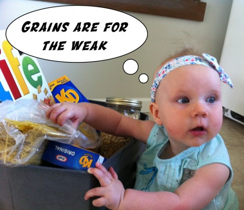 Putting all grain related foods in a box and removing them from your house helps you stay on track with a grain free diet.