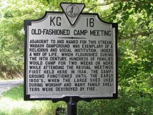 Historical marker to mark early  brush arbor meetings.