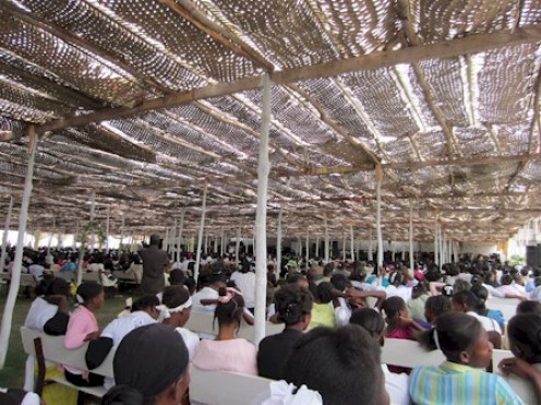 Living Faith Ministries is probably the result of an explosion of believers who grew from the Brush Arbor now into tent revivals and other structures.