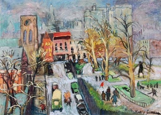 City Scene By Harry Gottlieb