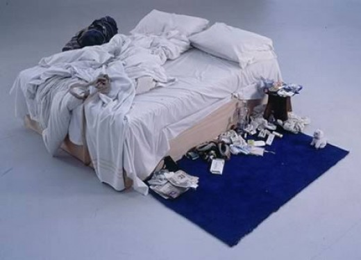 The art of a dirty bed.