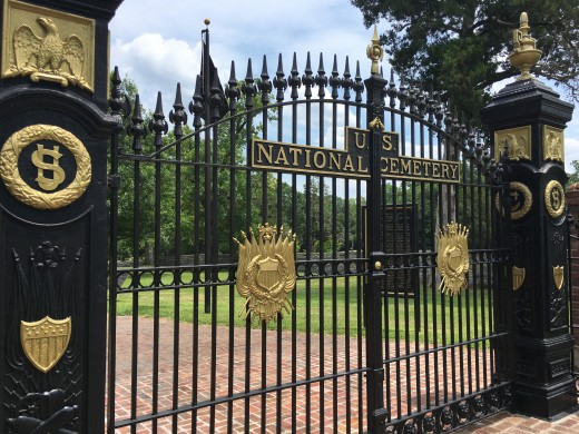 The Gates to the Shiloh Cemetery.