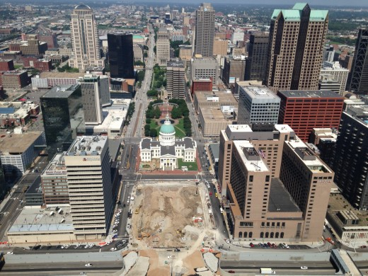 View from the top of the Arch