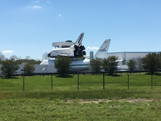 Views of NASA as you ride the trolley!  It was so much larger than I realized.