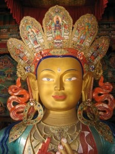 Maitreya Buddha Statue in Thikse Gompa