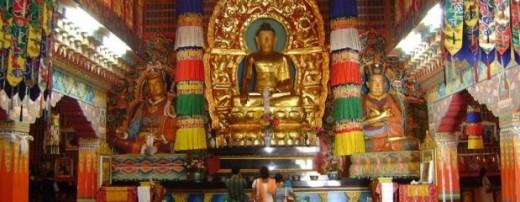 Inside of Rumtek Monastery, Sikkim