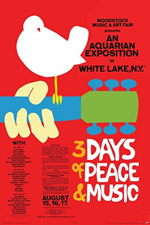 The Woodstock Music & Arts festival is one of the most iconic events in US history. With almost half a million hippies, it shows what the love generation was about.